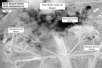 Syrian regime warplanes launch raids from Syria base hit by US: monitor