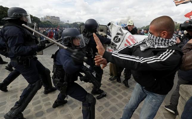 US 'concerned' over violence in France, State Dept spox Kirby says