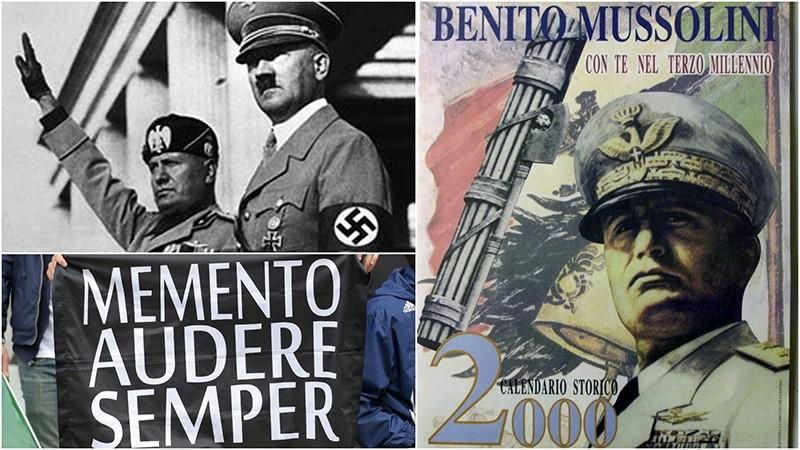 Italian politician Mario De Cristofaro has produced some 2,000 calendars featuring nostalgic photographs (R) of Mussolini framed by rousing Fascist-era slogans. (REUTERS Photo)