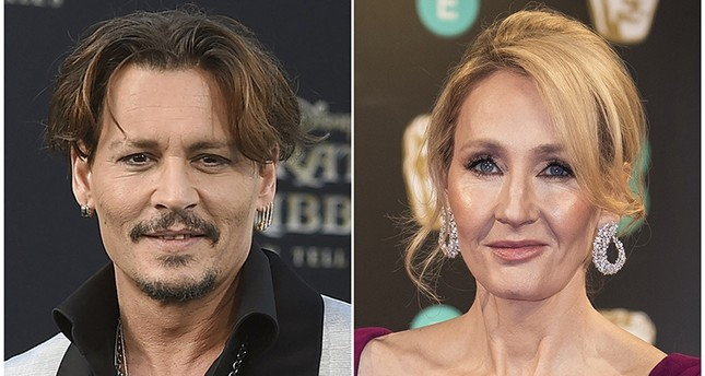 In this combination photo, Johnny Depp (L) appears at the LA premiere of Pirates of the Caribbean: Dead Men Tell No Tales on May 18, 2017 and J.K. Rowling at the BAFTA Film Awards in London on Feb. 12, 2017. (AP Photo)