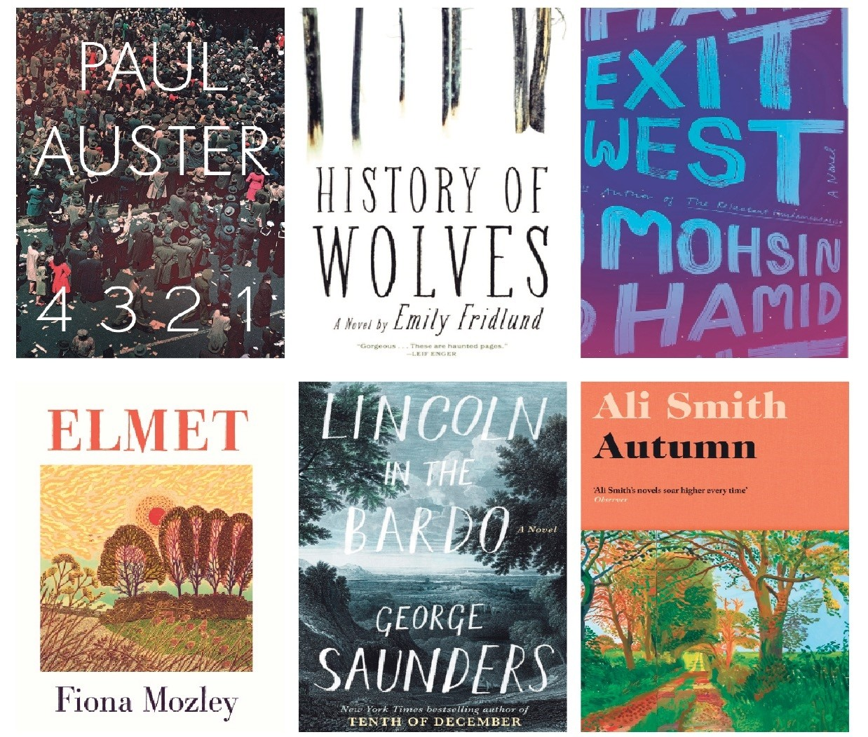 Photos show the nominees for the Man Booker Prize, whose winner will be announced on Oct. 17.