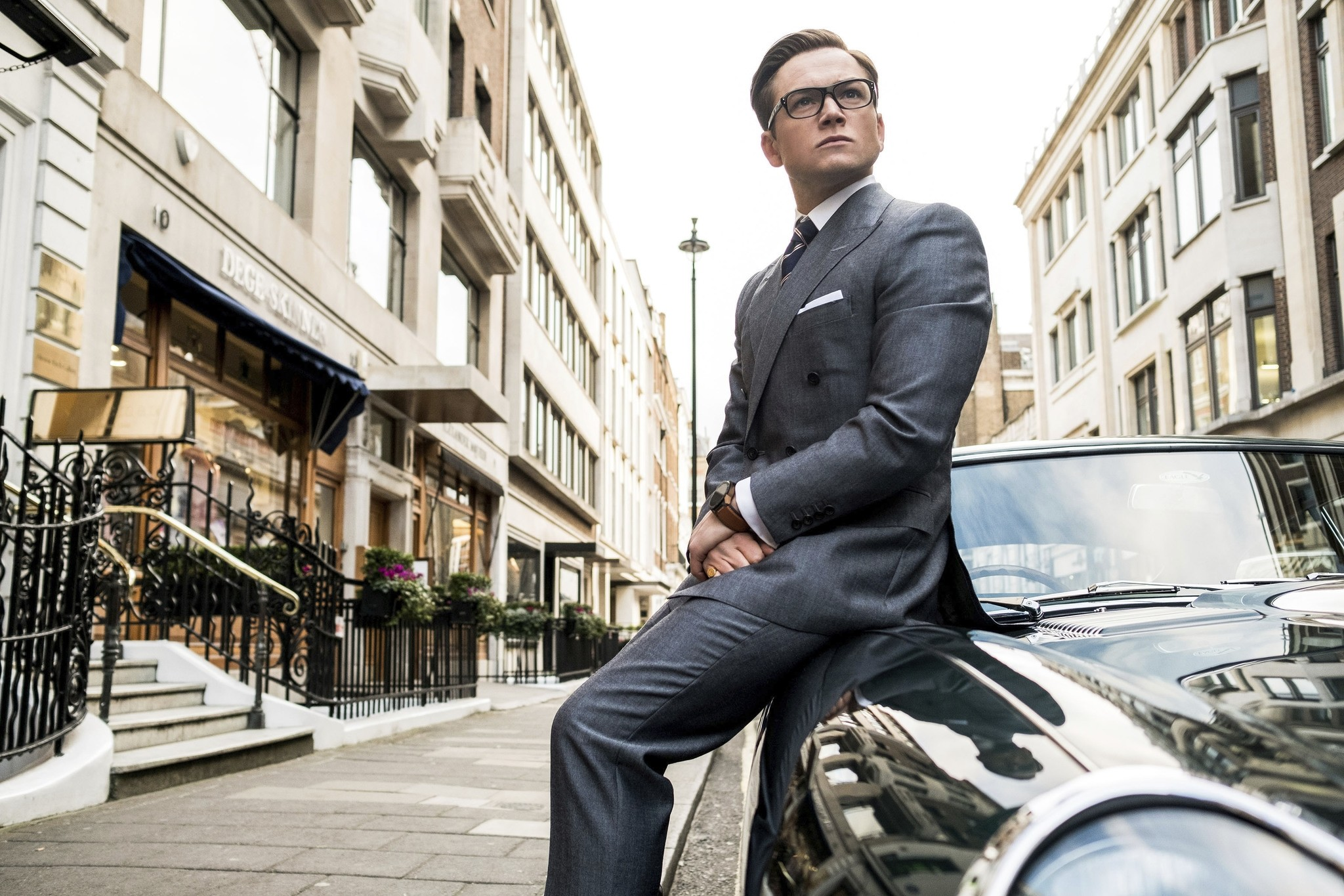 This image released by Twentieth Century Fox shows Taron Egerton in ,Kingsman: The Golden Circle., (AP Photo)