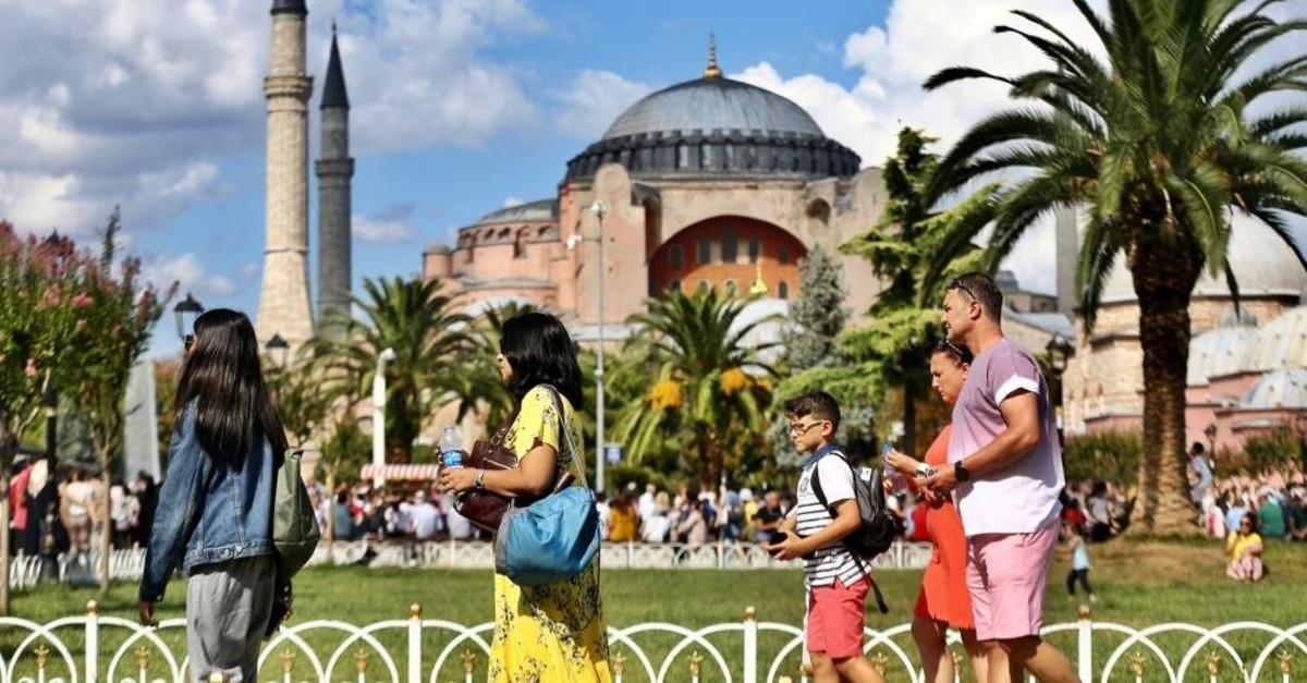 Turkey welcomed 45 million foreign visitors in 2019. (AA Photo)