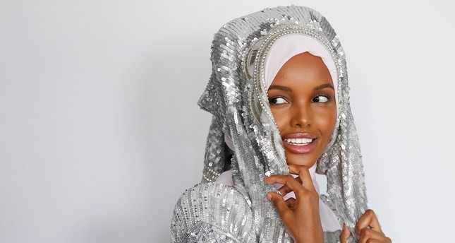 Fashion model and former refugee Halima Aden poses during a shoot at a studio in New York City, U.S .August 28, 2017. (REUTERS Photo)
