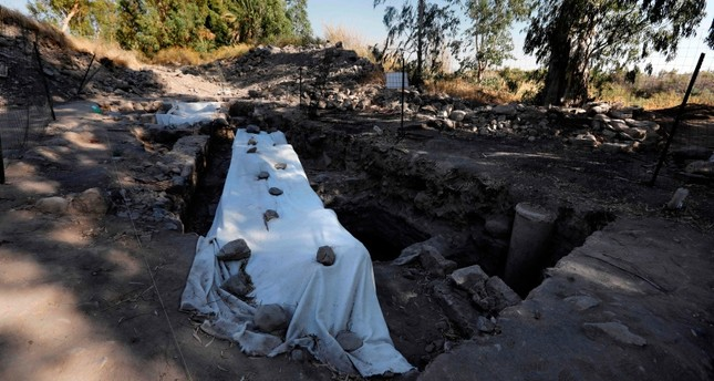 In this file photo taken on August 06, 2017, a general view of an archeological excavation site, believed to be the location of a biblical village that was home to Saint Peter, near the Sea of Galilee