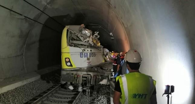 2 dead after train derails inside tunnel in Turkey's Bilecik