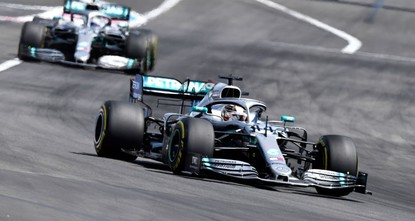 Dominant Lewis Hamilton setting a record pace