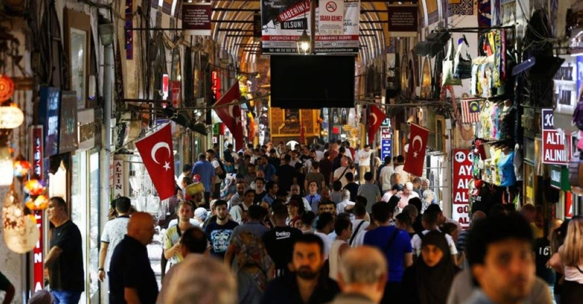 Tourists visit Istanbul's Grand Bazaar, one of the city's main tourist attractions, Friday, Aug. 17, 2018. (AP Photo)
