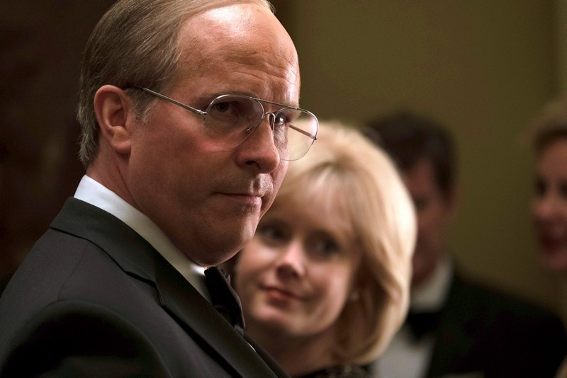 This image released by Annapurna Pictures shows Christian Bale as Dick Cheney, left, and Amy Adams as Lynne Cheney in a scene from ,Vice., (AP Photo)