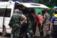 8 Thai youth team members now out of cave as 2nd day of rescue operation ends