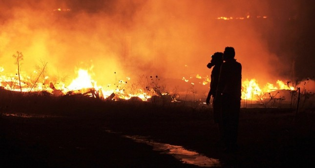 Fire destroys 544 acres of forest in Bodrum