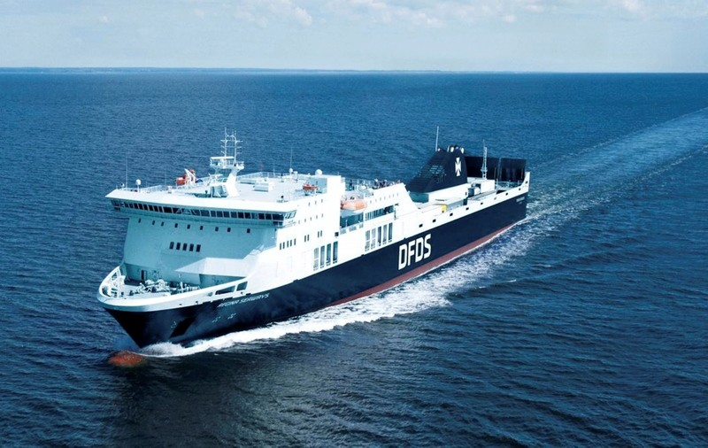 The undated photo provided in the photo library on the website of DFDS shows the vessel Regina Seaways. (AP Photo)