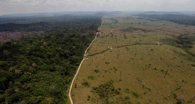 This Sept. 15, 2009 file photo shows a deforested area near Novo Progresso in Brazil's northern state of Para. AP Photo