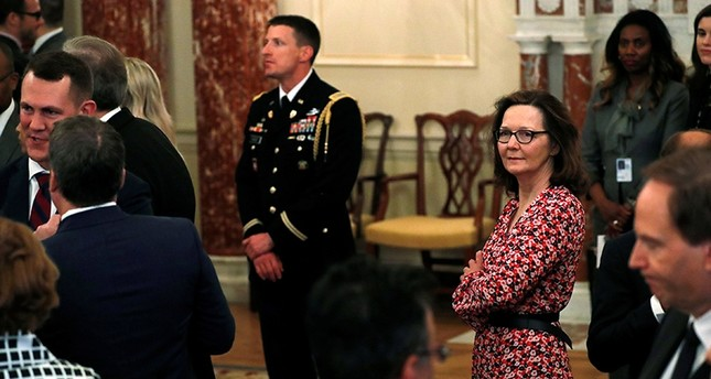 U.S. Central Intelligence Agency (CIA) director nominee Gina Haspel (R) attends Secretary of State Mike Pompeo's ceremonial swearing-in at the State Department in Washington, U.S. (Reuters Photo)