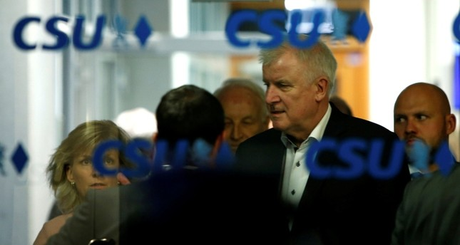 German Interior Minister Horst Seehofer during a Christian Social Union (CSU) leadership meeting in Munich, Germany July 1, 2018. (REUTERS Photo)