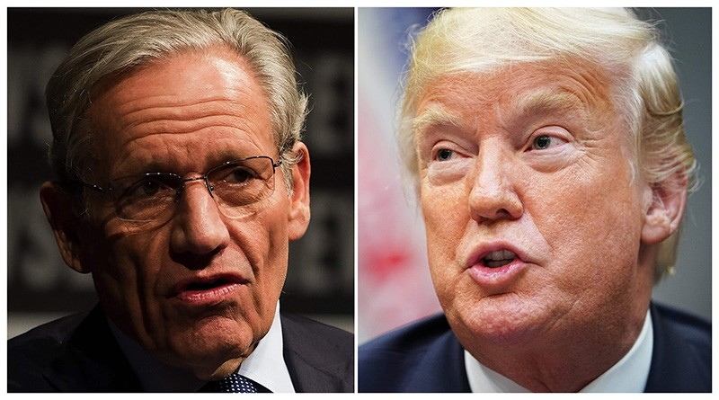 This combination of file photos shows Associate Editor of the Washington Post Bob Woodward (L) and U.S. President Donald Trump. (AFP Photos)