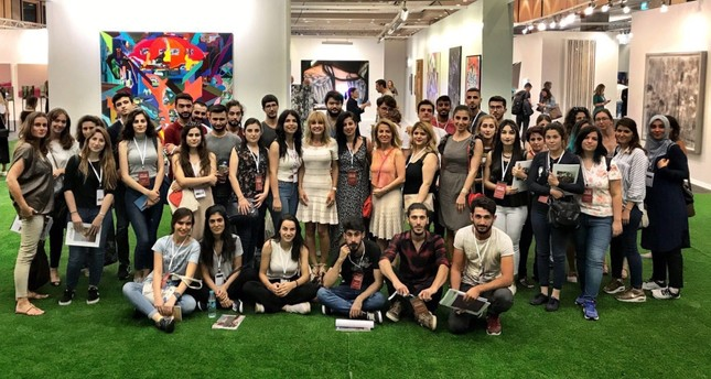 Young artists who visited Istanbul art venues produced works of art to be displayed at the exhibition Impressions from Anatolia.