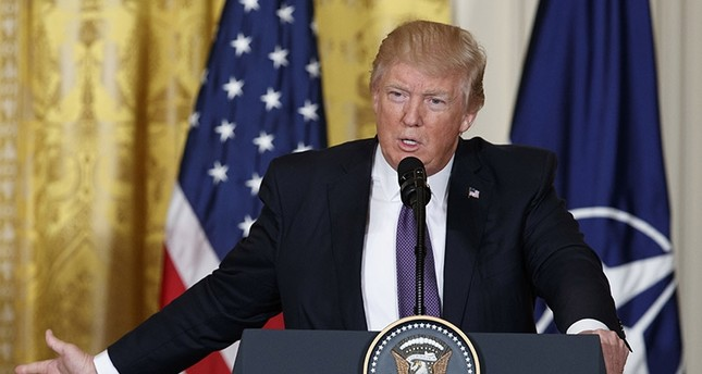 In this April 12, 2107 file photo, President Donald Trump speaks during a news conference in the East Room of the White House in Washington (AP Photo)