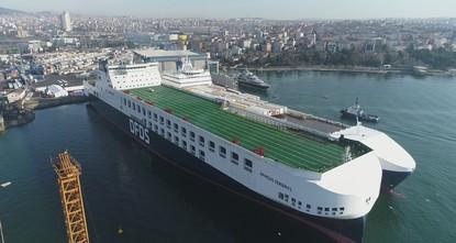 Türkei: Größtes RoRo-Schiff des Mittelmeeres