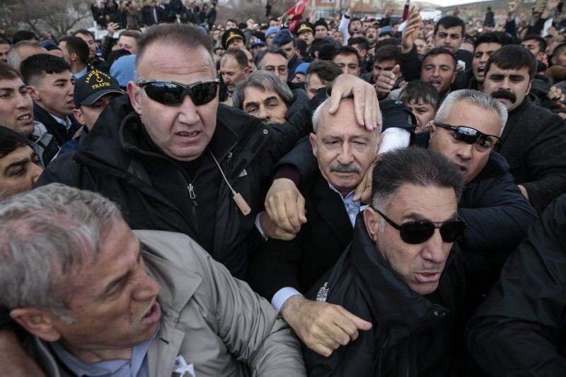 CHP chair attacked during funeral of soldier martyred while fighting PKK terrorists