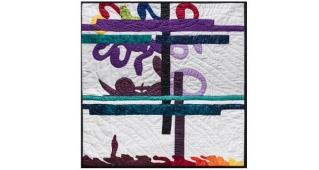 """Stories of Women"" series, 2018, patchwork, 60x60 cm."