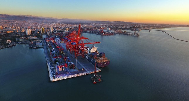 The port of Mersin, southern Turkey. (AA File Photo)