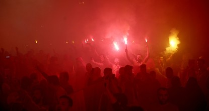 Thousands of Galatasaray fans celebrate league title on Istiklal