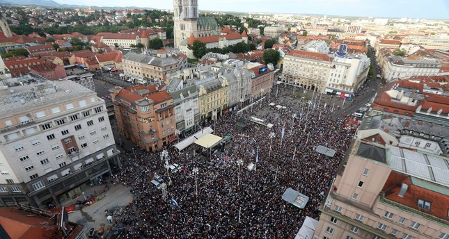 More than 20,000 protesters take to streets in Croatia over education reform