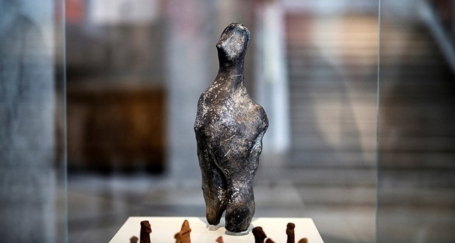 A 7000-year old Neolithic statuette is temporarily displayed at the National Archaeological Museum in Athens, Greece, February 10, 2017. Reuters Photo