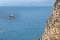Antalya's ancient cliffs attract tourists with swimming, diving opportunities