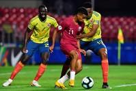 من لقاء قطر/كولومبيا الأربعاء الماضي (الفرنسية)