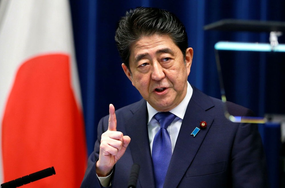 Japan's Prime Minister Shinzo  Abe speaks during a press conference at the prime minister's residence in Tokyo, Sept. 25. (AP Photo)