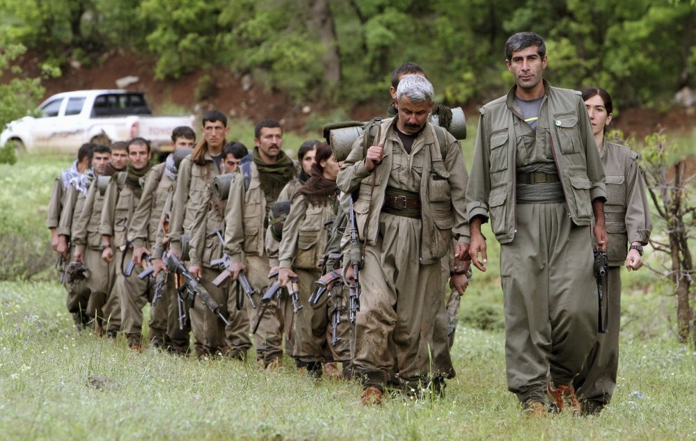 A group of PKK terrorists seen in the Duhok region of northern Iraq, May 14, 2013.