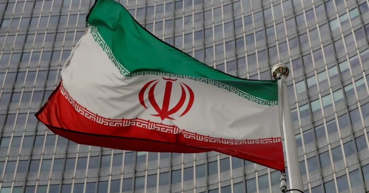 An Iranian flag flutters in front of the International Atomic Energy Agency headquarters, Vienna, Sept. 9, 2019. (REUTERS Photo)