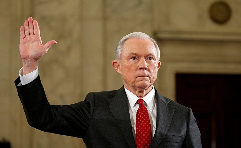 U.S. Sen. Jeff Sessions is sworn in to testify at a Senate Judiciary Committee confirmation hearing to become U.S. attorney general on Capitol Hill in Washington, U.S. January 10, 2017. (Reuters Photo)