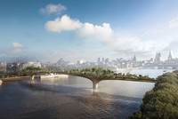 Supporters of a proposed footbridge and public garden spanning the River Thames in London abandoned the project Monday after support from the city withered away.  The trust established to build...