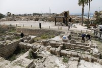 Archaeologists in Israel have begun work to restore a once-towering ancient-Roman temple in the modern-day Mediterranean city of Caesarea.