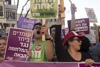 Hundreds rally in Tel Aviv as Israeli gunfire injures a dozen more Gazans