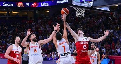 pTurkey have been knocked out of EuroBasket 2017 after being defeated by tournament-favourites Spain 73-56 on Sunday evening./p