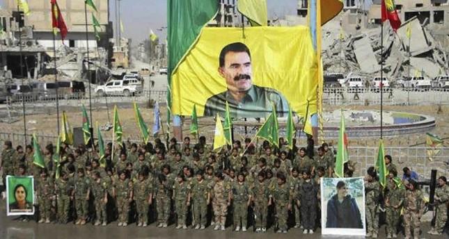 Terrorists raise flag of PKK leader Öcalan in newly liberated Raqqa