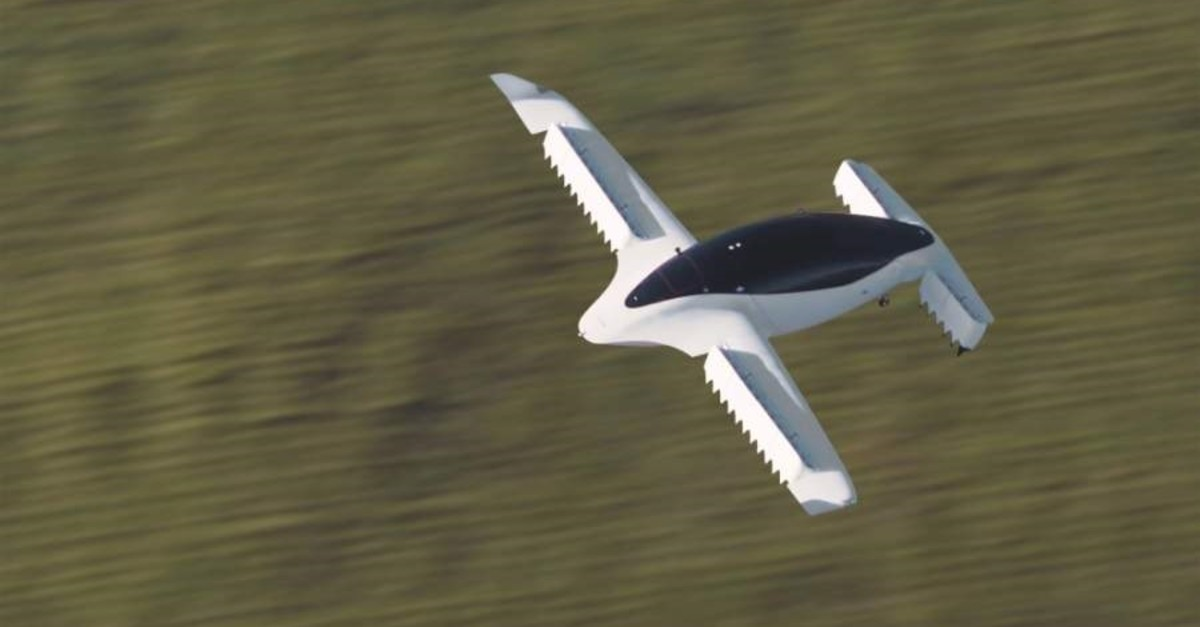 Lilium shows its five-seater prototype in Munich, Germany, October 2019. (Reuters)