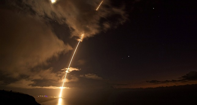 A medium-range ballistic missile target is launched, before being successfully intercepted by Standard Missile-6 missiles fired from the guided-missile destroyer USS John Paul Jones, in Kauai, Hawaii, U.S. August 29, 2017. (Reuters Photo)