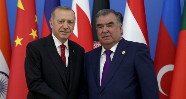 أردوغان يلتقي نظيره الطاجيكي في العاصمة دوشنبه