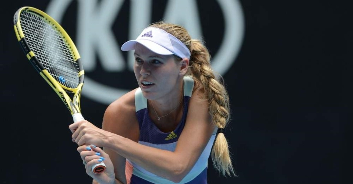 Wozniacki lost to Tunisia's Ons Jabeur in her last match, Melbourne, Jan. 24, 2020. (AA Photo)