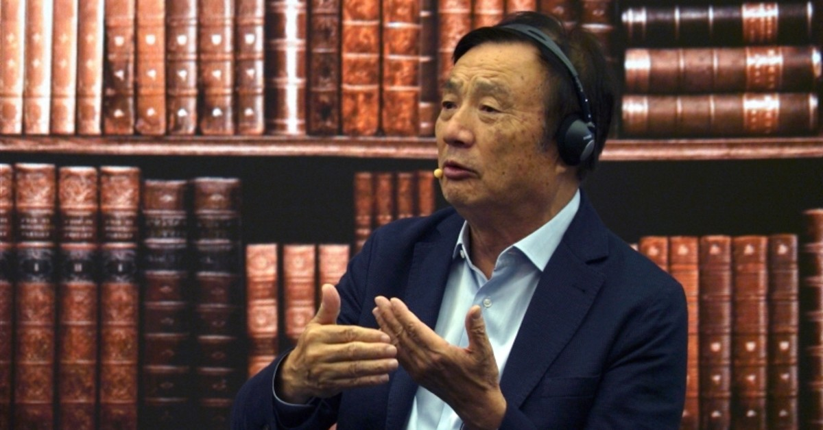 Huawei founder Ren Zhengfei speaks at a roundtable at the telecom giant's headquarters in Shenzhen in southern China on Monday, June 17, 2019. (AP Photo)