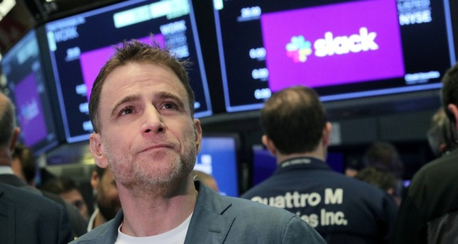 Slack Technologies Inc. CEO Stewart Butterfield stands on the trading floor during the company's IPO at the New York Stock Exchange (NYSE) in New York, U.S. June 20, 2019. (Reuters Photo)