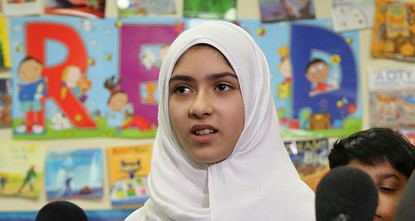 pA 12-year-old girl was assaulted in Toronto Friday by a man who twice tried to cut off her headscarf with scissors and then fled, police said./p  pKhawlah Noman told reporters that she was...
