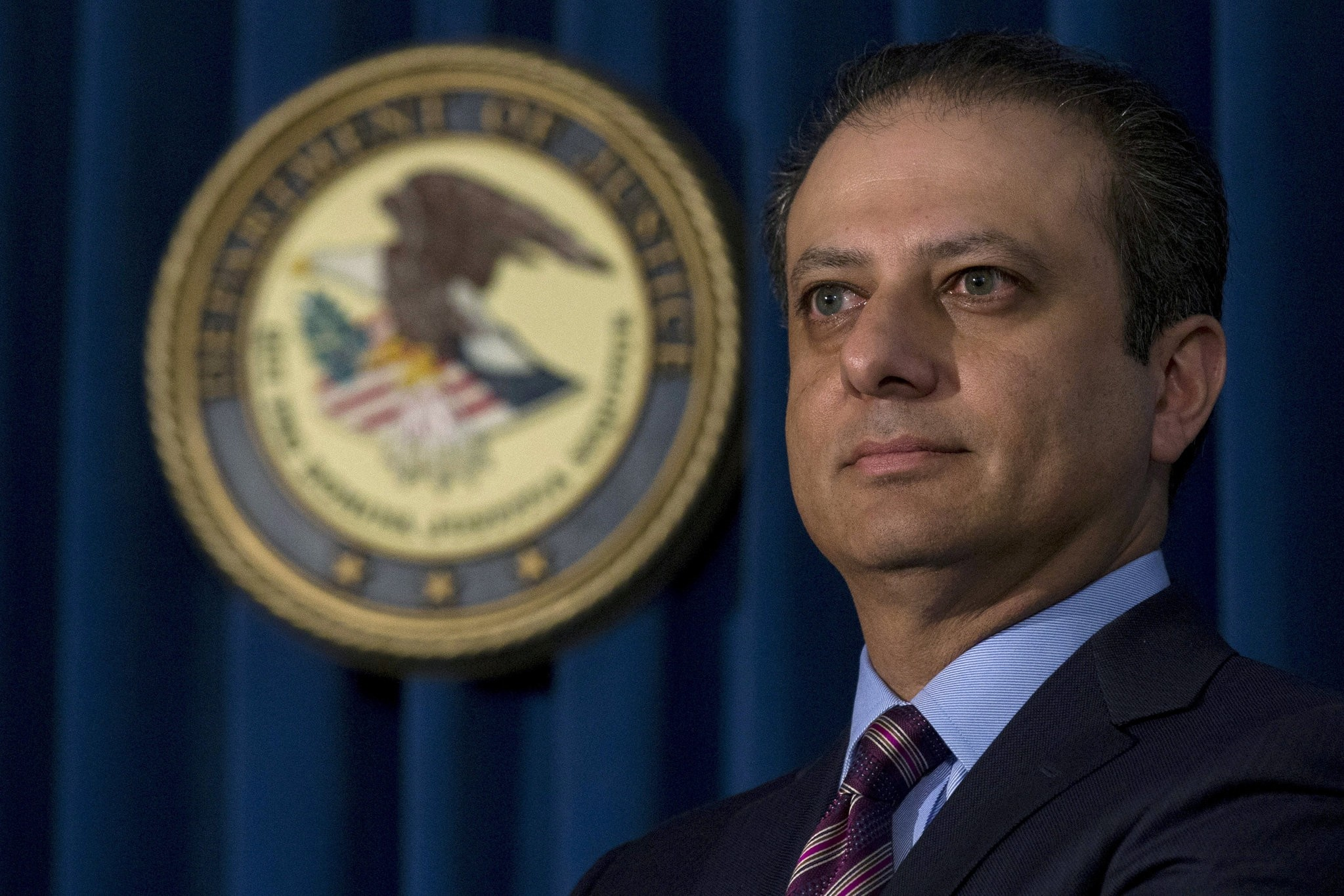 Manhattan U.S. Attorney Preet Bharara attends a news conference at his office in New York October 29, 2015. (REUTERS Photo)