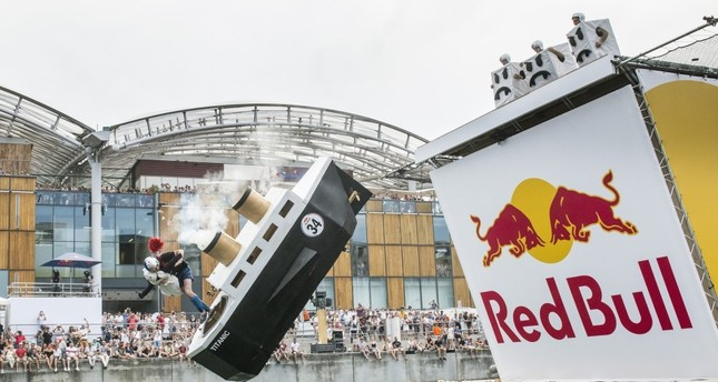 Red Bull Flugtag participants try to fly away with handmade planes in Lyon, France.