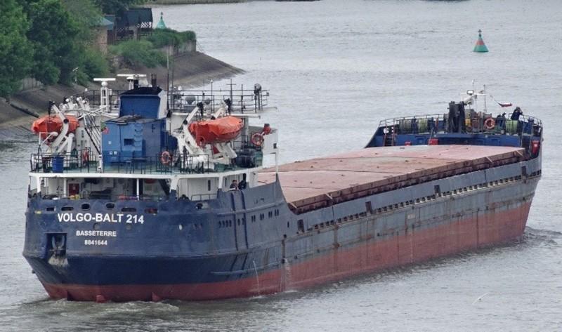 2014 photo of the ship that sank of Turkey's Black Sea coast (DHA Photo)